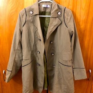 Olive green Jacket with statement buttons